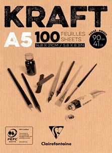 CARTA KRAFT  90g/m – COLORE NATURALE A5