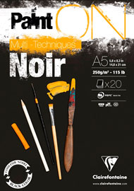 CARTA VAPOROSA 250gr. – Colore Nero – A4
