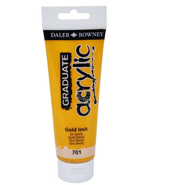 Colore acrilico Daler Rowney fine Graduate tubo 120ml oro imitazione cod. 701