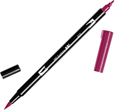 Tombow Abt dual brush cod. 837 wine red