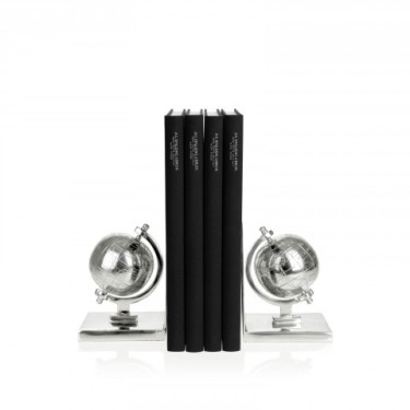 Fermalibri Spalding forma globo/acciaio