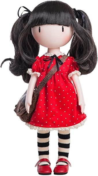 Bambola Gorjuss Santoro vestito rosso a pois 32 cm