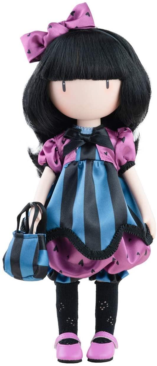Bambola Gorjuss Santoro vestito viola/b/n 32 cm (Copia)