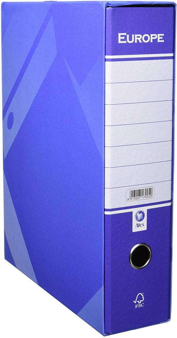 Raccoglitore Europa c/custodia ds.8 colore blu confezione 6 pezzi